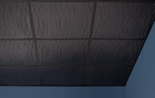 Drifts Ceiling Tile In White Black