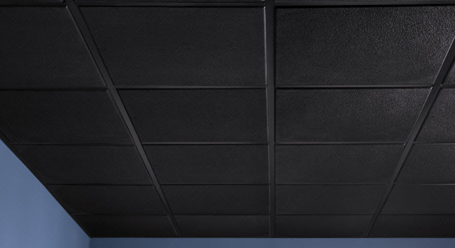 Click To View Stucco Teg Black Ceiling