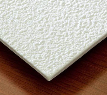 Stucco ceiling tiles