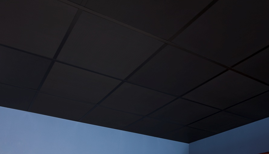 Black ceiling tile