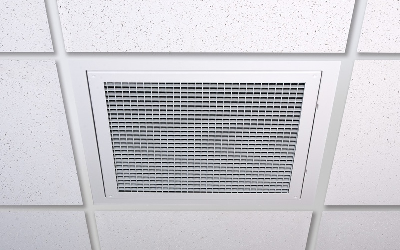 Grid Ceiling Return Air Grille : Ceiling ecrate return with reusable filter