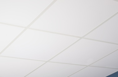 Installed Smooth White Ceiling