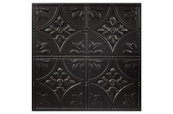 Designer Antique 2 x 2 Ceiling Tiles 752-07 - box of 12 black tiles