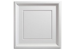 Designer Icon Coffer 2 x 2 Ceiling Tiles 753-00 - box of 12 white tiles
