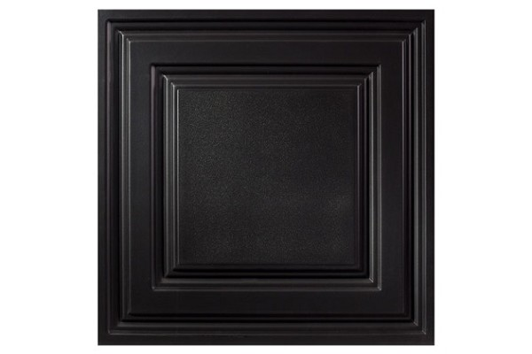 Designer Icon Relief 2 x 2 Ceiling Tiles 754-07 - box of 12 black tiles