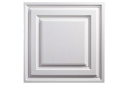 Designer Icon Relief 2 x 2 Ceiling Tiles 754-00 - box of 12 white tiles