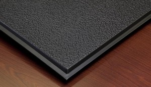 Genesis Stucco Teg (Revealed Edge) 2 x 2 Ceiling Tiles 770-007 - box of 12 black tiles