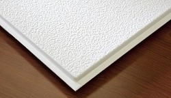 Genesis Stucco Teg (Revealed Edge) 2 x 2 Ceiling Tiles 770-00 - box of 12 white tiles