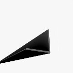 Drop Ceiling Grid: 8' Angle Molding (30 per box)  Black